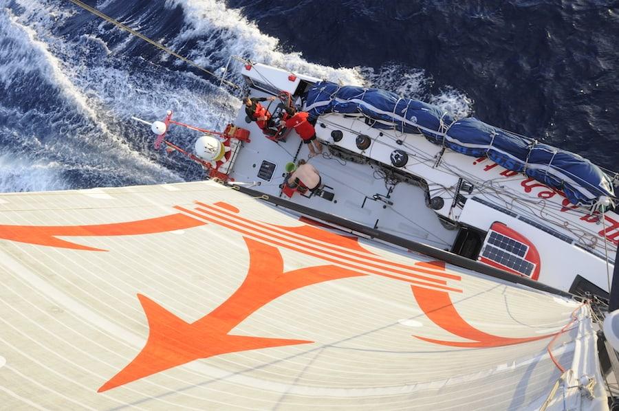 Solar Photovoltaik Solarpaneel Volvo Ocean Race Maserati VO70 Solbian Solarpaneele begehbar flexibel ultraleicht Segeln Yacht