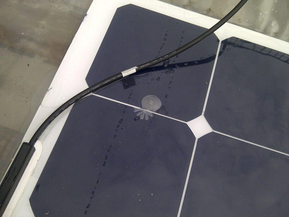 Hot-Spot am flexiblen Solarmodul des chinesischen Mitbewerbers