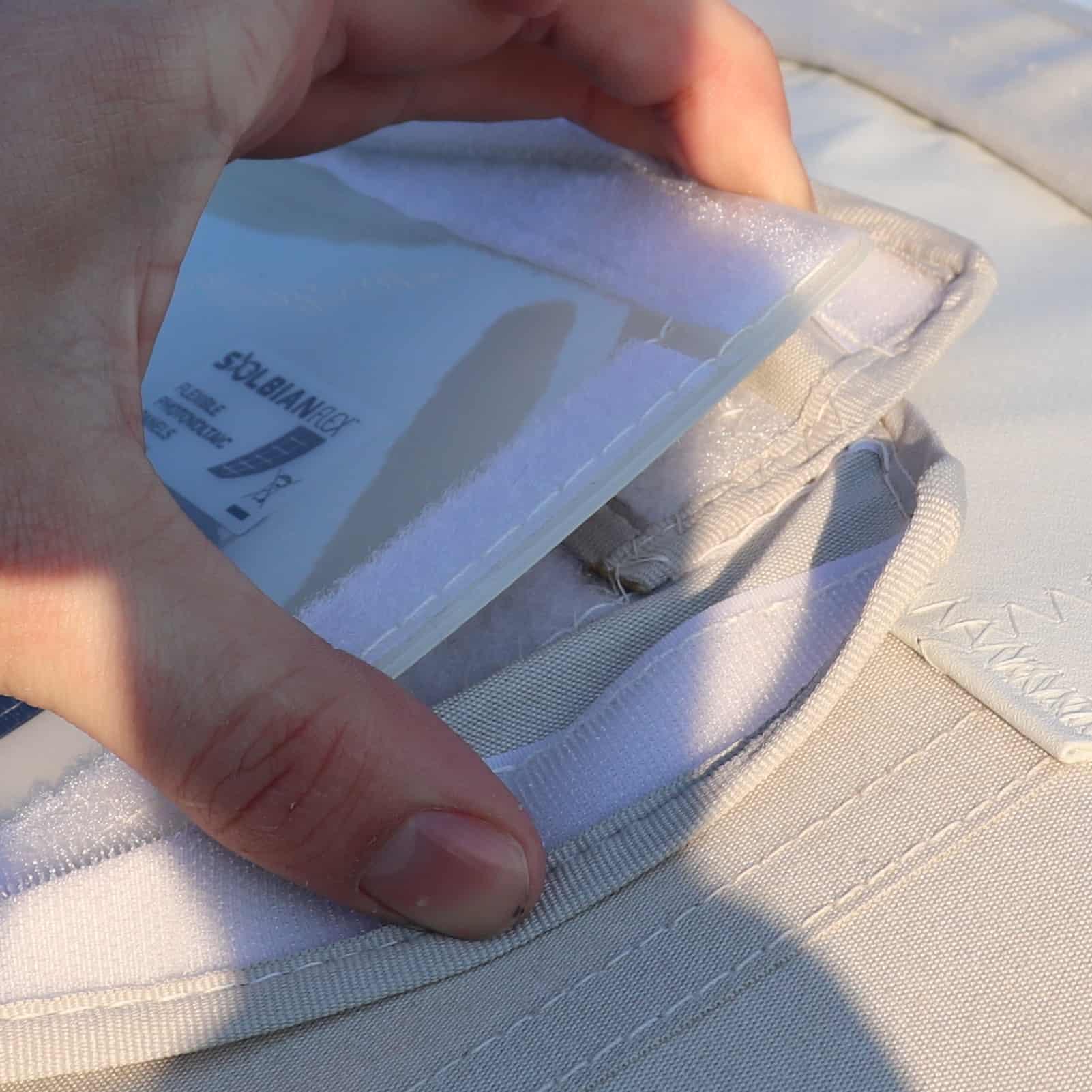 Velcro flaps